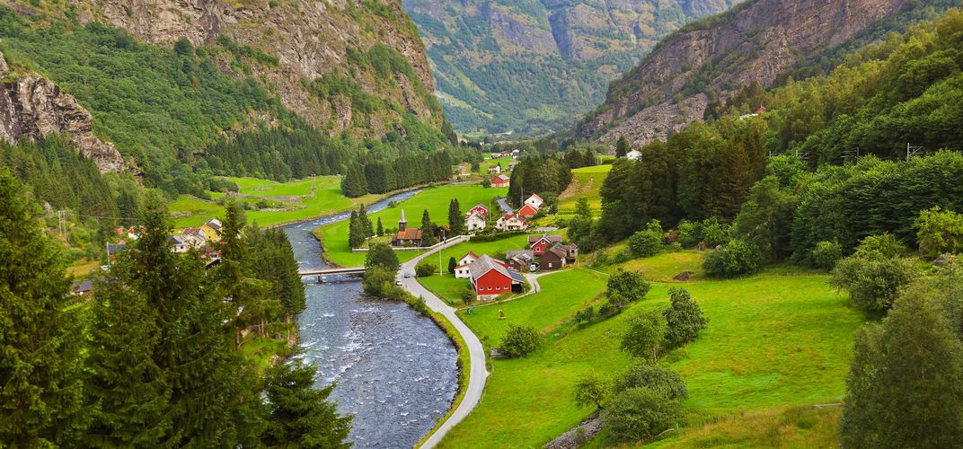 View from the Flam railway