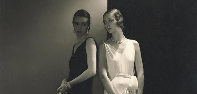 Marion Morehouse in Vionnet gown