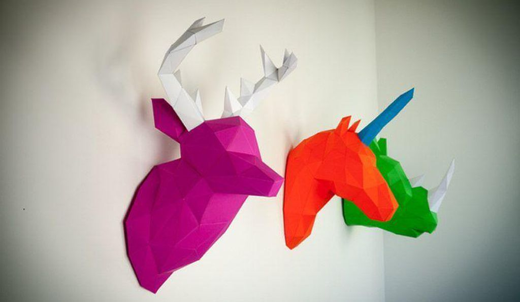 DIY paper taxidermy.
