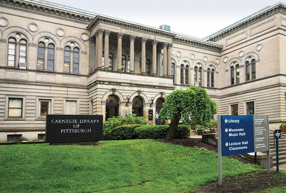 The Carnegie Library of Pittsburgh opened in 1895 as one of the first of over 1,600 libraries the industrialist erected in the United States.