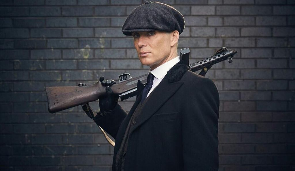 Tommy Shelby, the family patriarch, wears a distinctive peaked cap