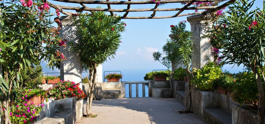Mediterranean garden along the Amalfi Coast