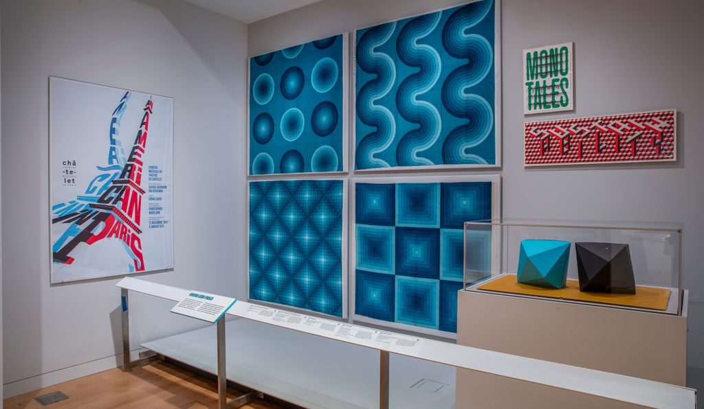 Mesmerizing op art designs feature prominently in the new exhibition.