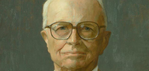 Thomas Buechner portrait of Bill Zinsser