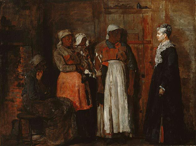 Winslow Homer A Visit from the Old Mistress