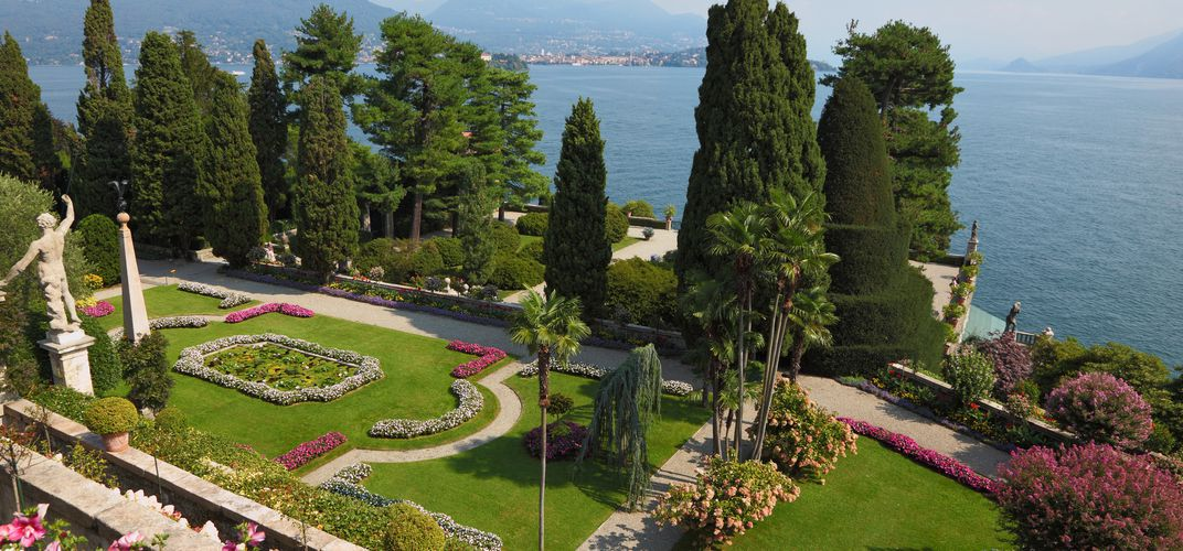 The gardens of Isola Bella on Lake Maggiore