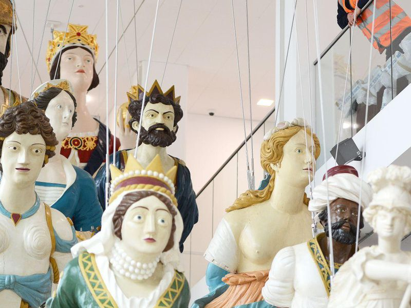 Flotilla of figureheads