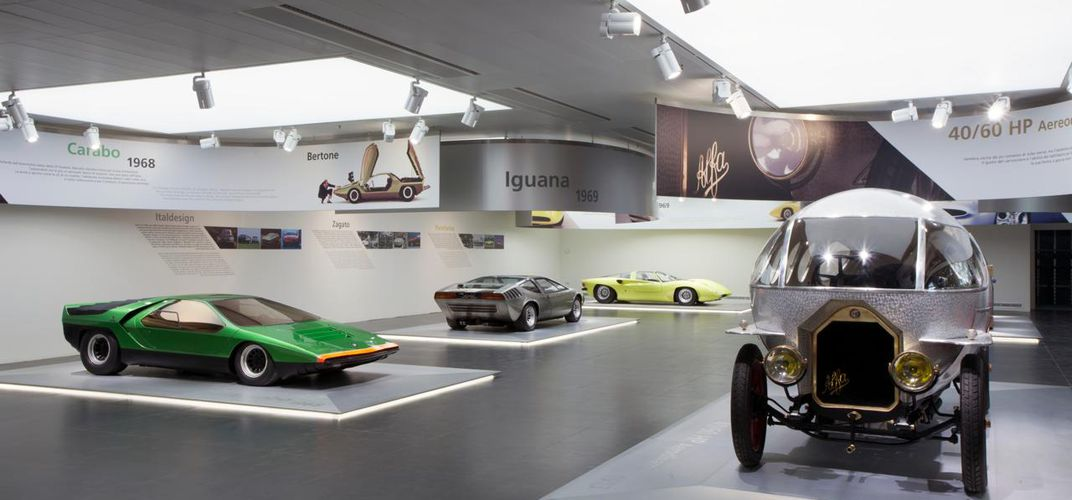 Display at the Alfa Romeo Museum. Credit: Alfa Romeo Museum.
