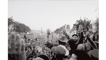 Rare Photos Chronicle an Early Castro Rally in Cuba