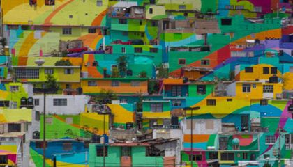 In Mexico, a Gritty Neighborhood Has Become a 65,000-Square-Foot Mural