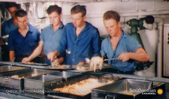 Preview thumbnail for video'Rare color footage of World War II Navy hazing rituals