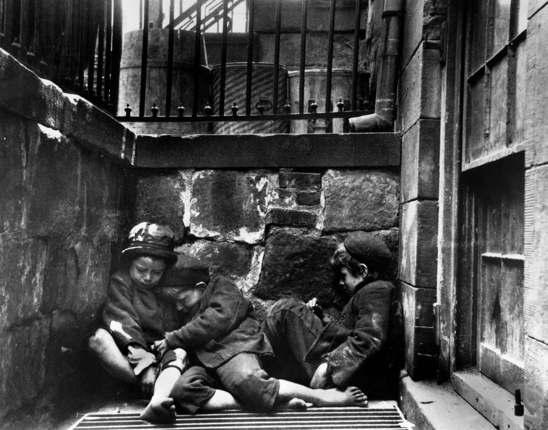 Pioneering Social Reformer Jacob Riis Revealed How The Other Half  Children Sleeping On Mulberry Street Ca Jacob A Riis Museum Of  The City Of New York