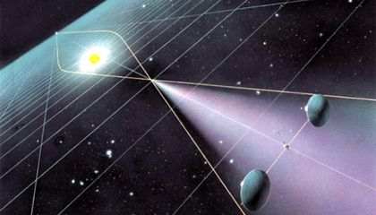 The ultimate space telescope would use the sun as a gravitational