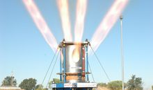 NASA tests a key element of its next moon launcher.