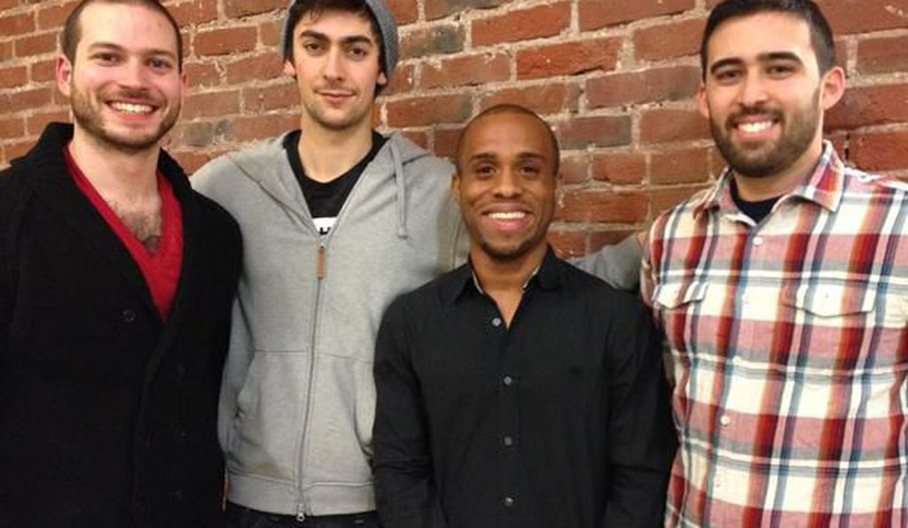 The Scholly team (from left): Nick Pirollo, Eli Bernstein, Christopher Gray and Bryson Alef.