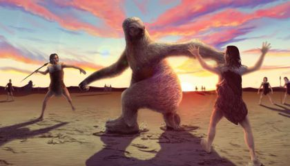 Fossil Tracks May Record Ancient Humans Hunting Giant Sloths