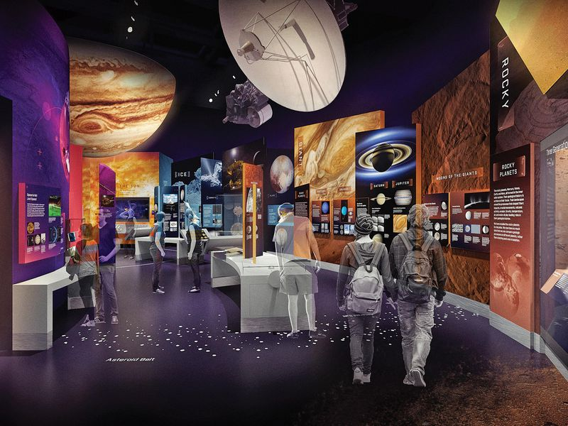 rendering of new Kenneth C. Griffin Exploring the Planets Gallery