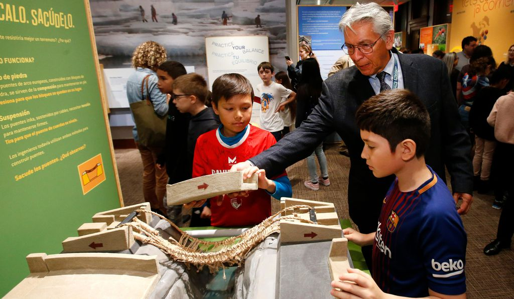 """The Americas were built on a foundation of Native civilizations that had already conquered the wilderness,"" says the museum's director Kevin Gover, demonstrating how a rope suspension bridge works."