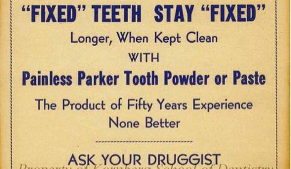 One of Painless Parker's advertising cards.