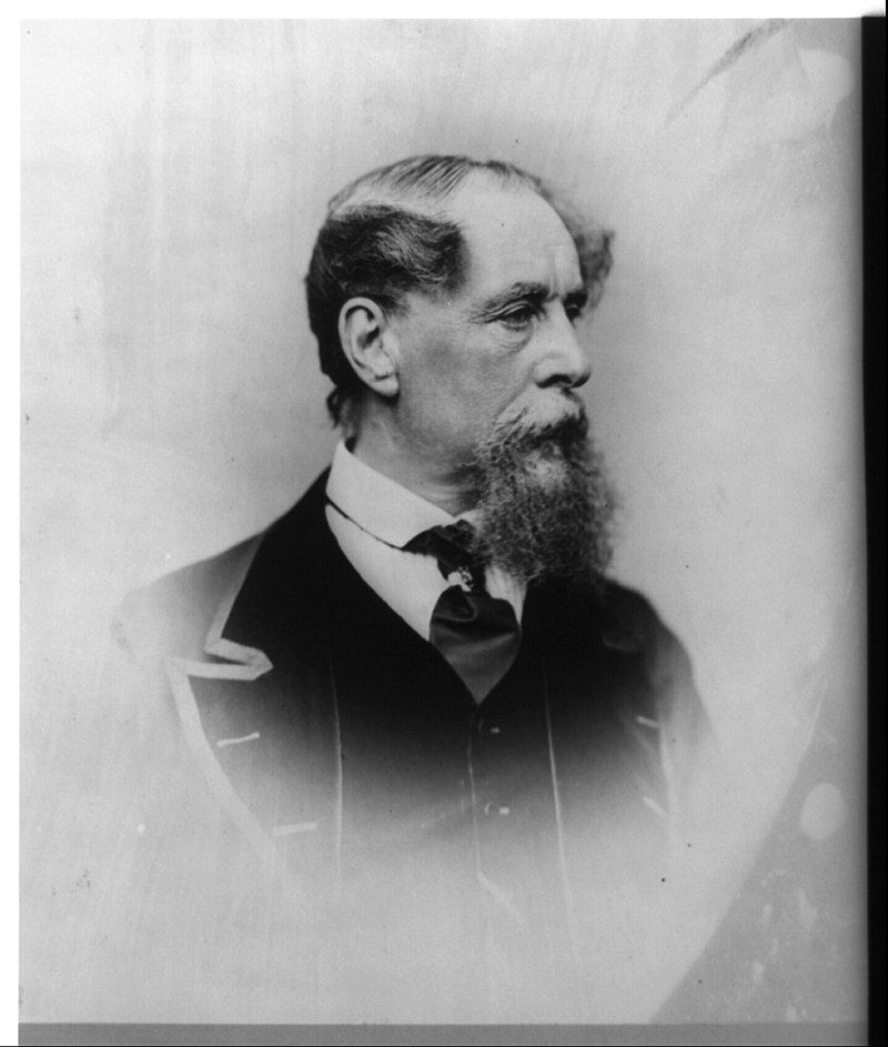 1867 photograph of Charles Dickens
