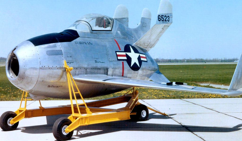 The McDonnell XF-85 Goblin.
