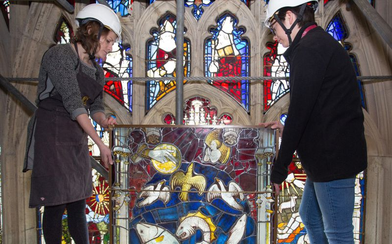 Conservators Spent Some 92400 Hours Cleaning And Protecting The Great East Windows 311 Panels York Minster Glass