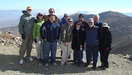Team at the top of proposed giant Magellan telescope site