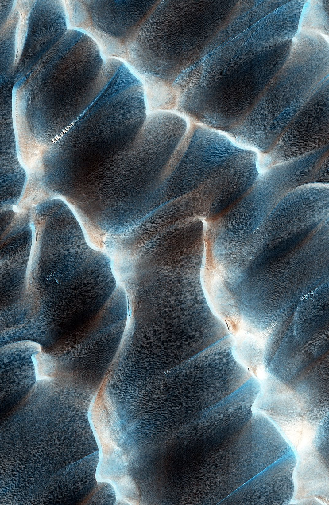 Time travel may be possible after scientists successfully send light - Dunes In A North Polar Sand Sea Called An Erg University Of Arizona Jpl Nasa