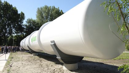 Image: Dutch testing tube unveiled for Hyperloop transport system