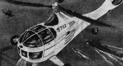 Four-person helicopter of the future (1944)