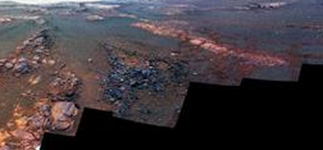 Caption: NASA Releases Opportunity Rover's Final Panorama