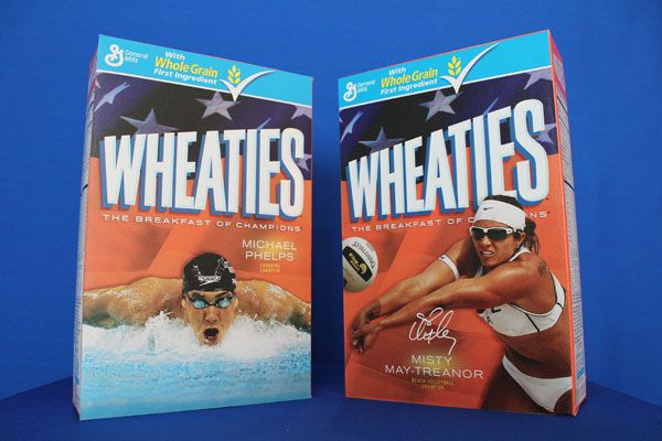 Michael Phelps and May-Treanor Wheaties Boxes