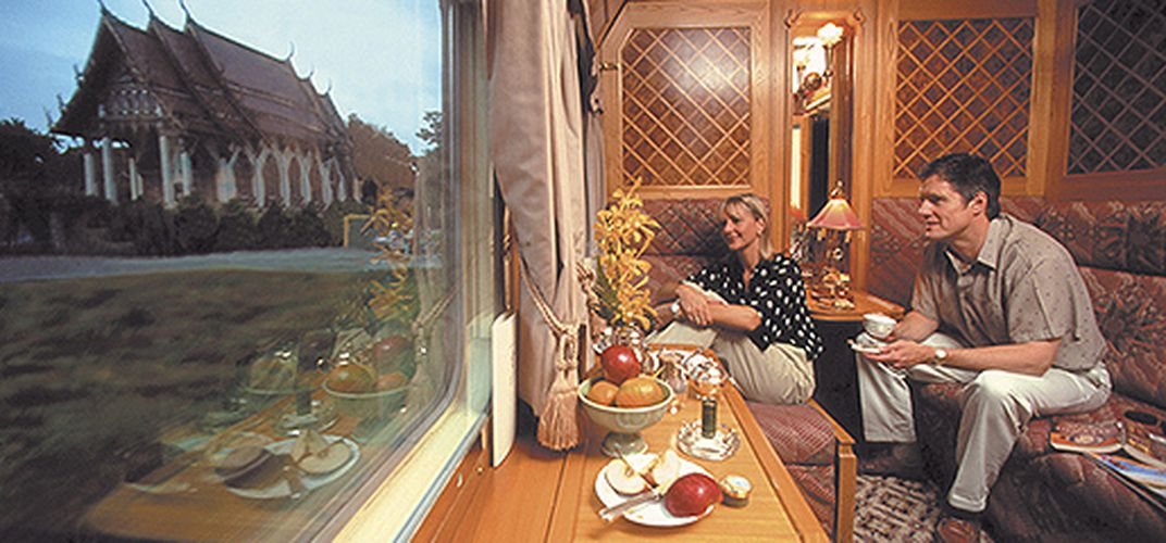 Cabin aboard the <i>Eastern & Oriental Express</i>