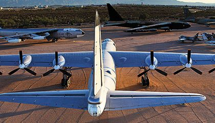 </i>Fort Worth</i>, a B-36J, basks in restored glory.