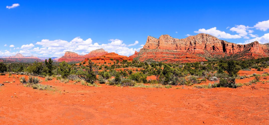 Panoramic view of Sedona landscape