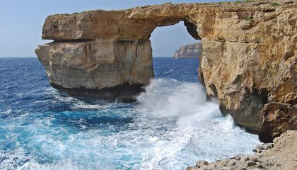 Malta's Iconic Azure Window Crumbles Into the Sea