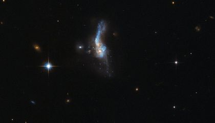 New Hubble Image Captures the Collision of Two Galaxies