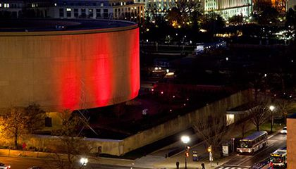 Hirshhorn Goes Red for World AIDS Day