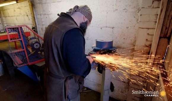 Preview thumbnail for video'This London Blacksmith Forges Replicas of Medieval Swords