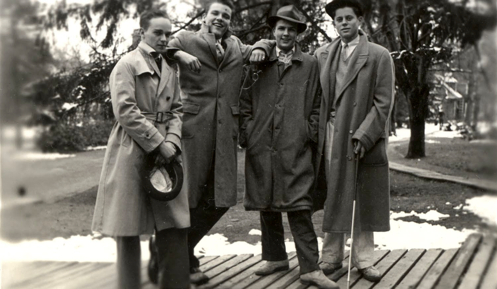 JFK, at right, with his fellow