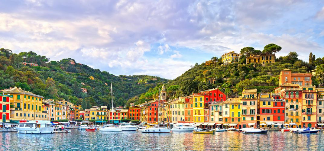 The village of Portofino on the Italian Riviera