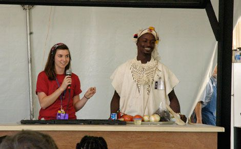 Presenters at the Peace Corps Home Cooking stage at the 2011 Smithsonian Folklife Festival