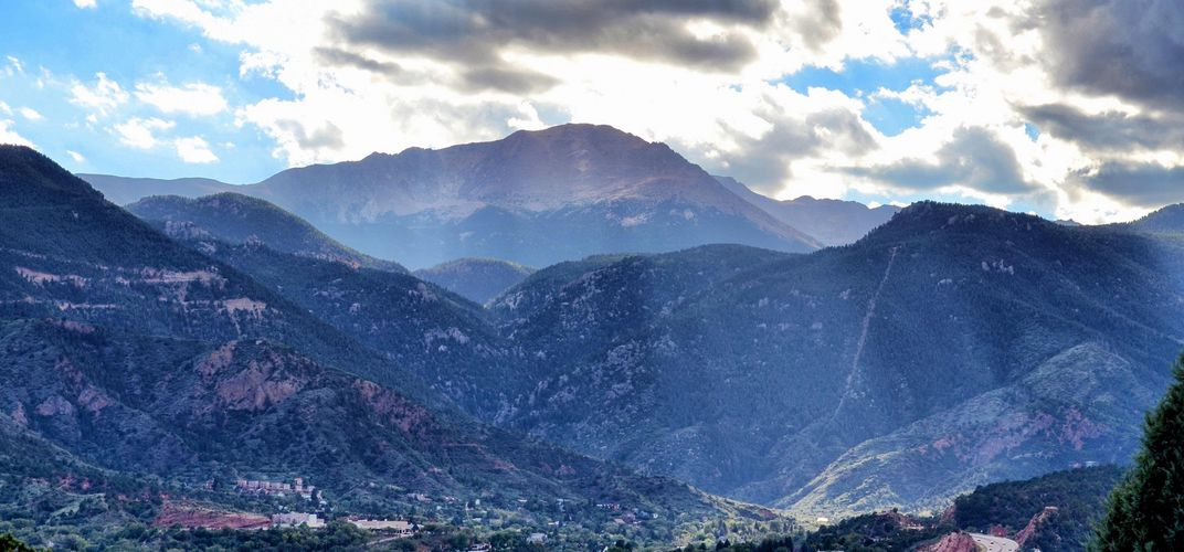 Colorado Springs, Colorado, and Pikes Peak. Credit: Clarice Lakota