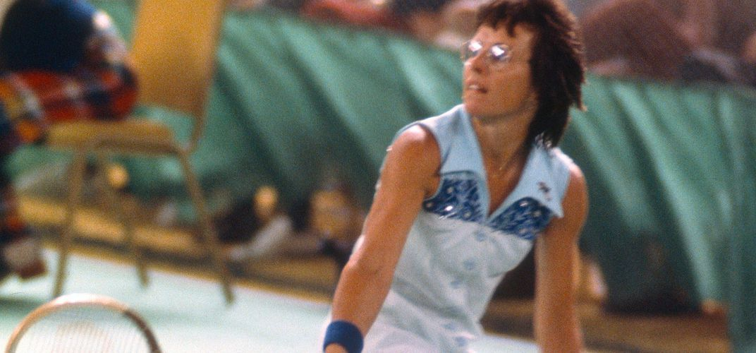Caption: Billie Jean King's Battle of the Sexes Match