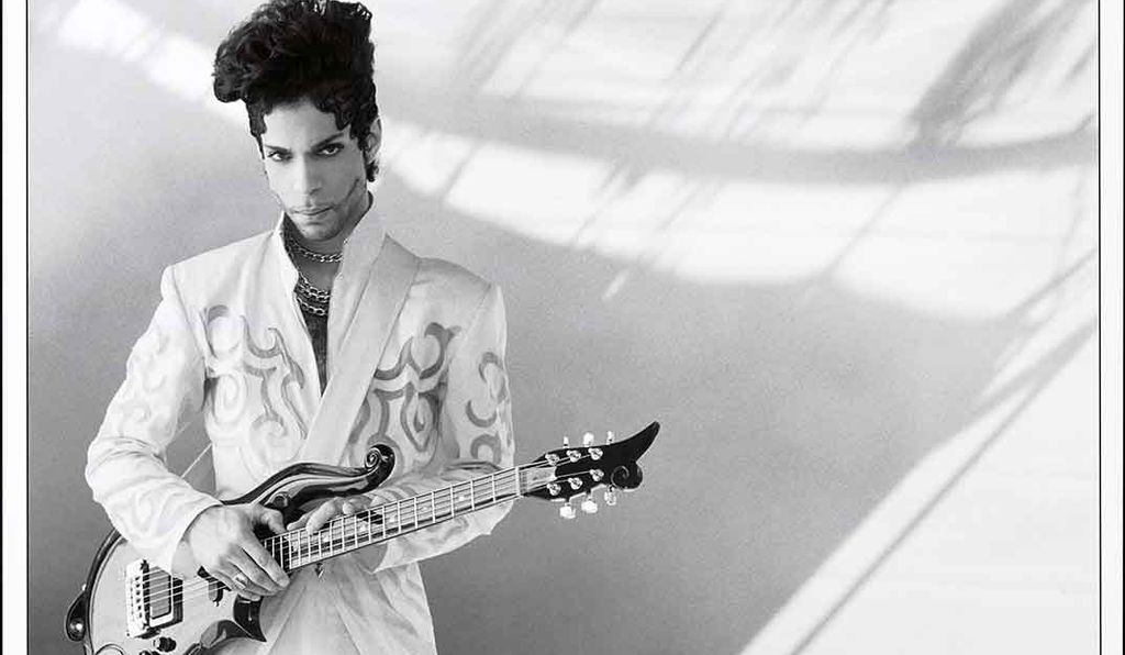 From the collections of the National Portrait Gallery in Washington, D.C. is this 1993 photograph of Prince Rogers Nelson (1958-2016) by Lynn Goldsmith, now on view through June 1.
