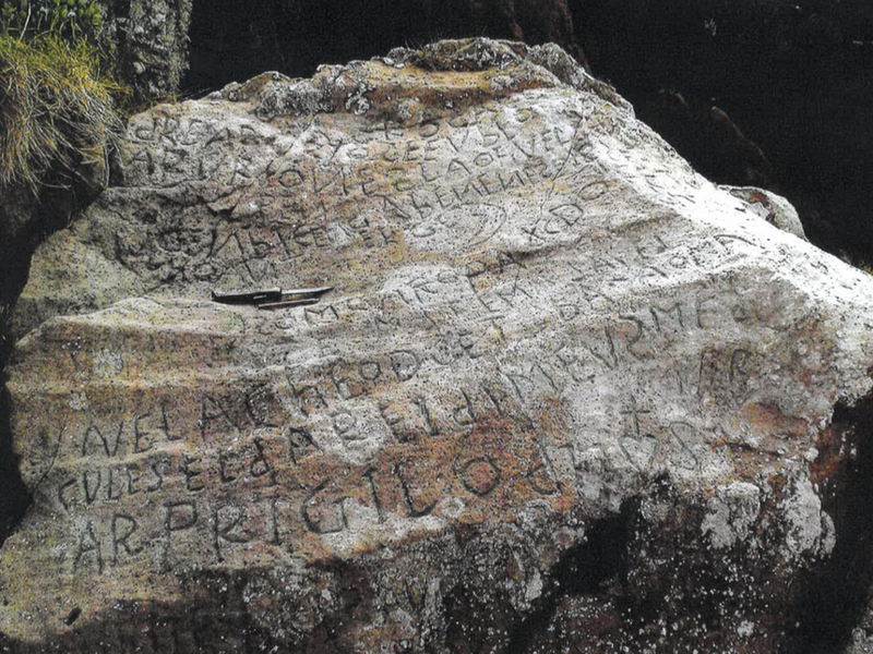 Mysterious inscription on centuries-old rock
