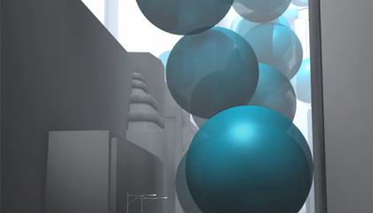 What If You Replaced All of New York City's Carbon Dioxide Emissions with Big Blue Bouncy Balls?