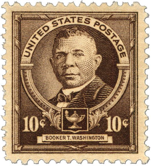 how booker t washington became the first african american on a u s