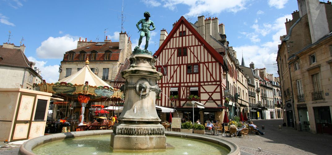 Traditional square in Dijon, Burgundy