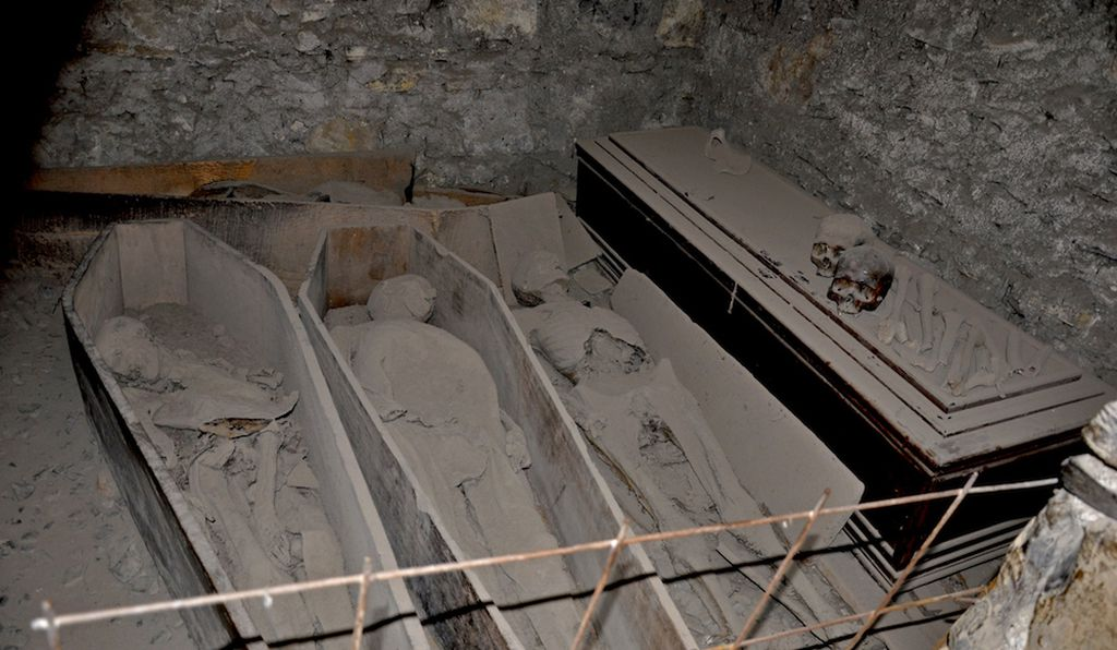 The mummified remains of Dublin's elite rest in the crypts beneath St. Michan's Church.